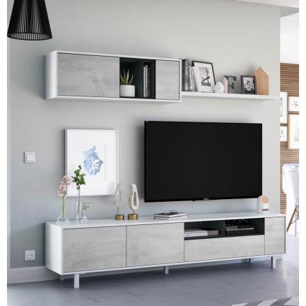 apilable de salón muebles baratos gris y blanco moderno
