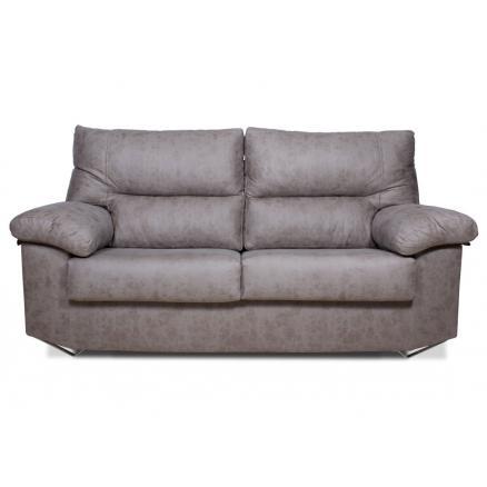 sofas baratos 3 plazas moderno patas metálicas gris gran resistencia
