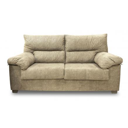 sofas baratos moderno de 3 plazas color tierra resistente