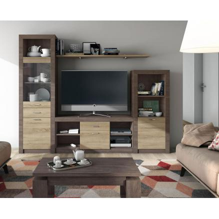 apilable muebles baratos roble cambrian y roble oscuro