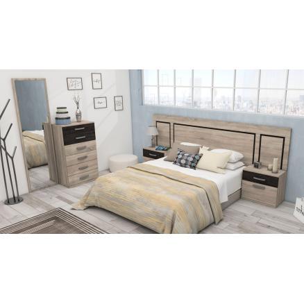 dormitorio matrimonio en roble cambrian y nassar moderno muebles baratos