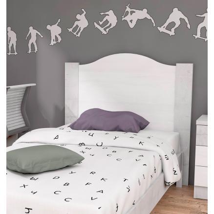 cabecero juvenil pino roble para cama juvenil