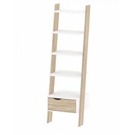 estantes en color roble blanco dormitorios juveniles
