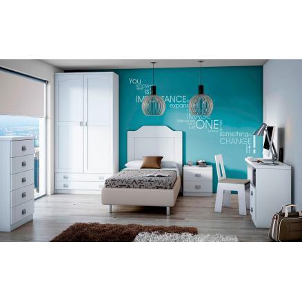 cabecero juvenil blanco 90 cm muebles baratos