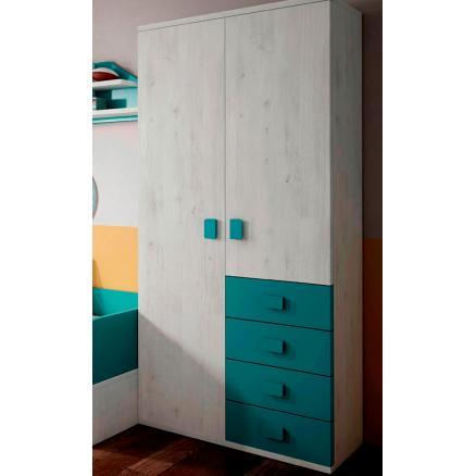 cama nido juvenil muebles baratos gris suave Y azul