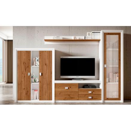 aparador blanco poro roble salerno moderno muebles baratos