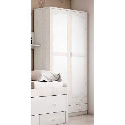 armario juvenil blanco gris dormitorios juveniles