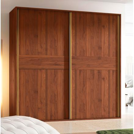 armario cajonera dormitorios matrimonio nogal memphis puerta corredera