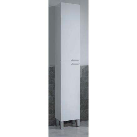 muebles baño en blanco brillo moderno con 2 puertas