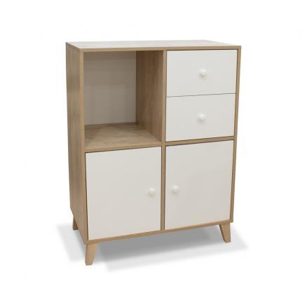 aparador alto salón muebles baratos auxiliar en blanco