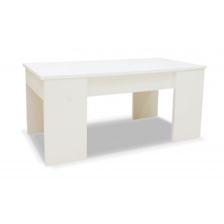 mesas de centro elevable color blanco mate extensible