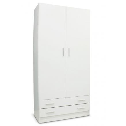 armario blanco muebles baratos en blanco liso
