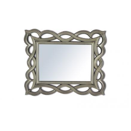 espejo rectangular en color plata recibidor mueble de sala