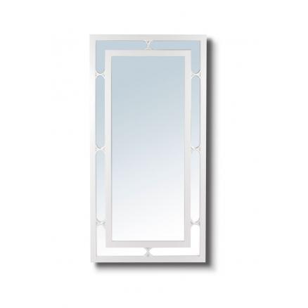 espejo rectangular en color blanco moderno dormitorios matrimonio