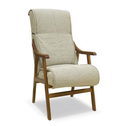 sillon tapizado cerezo beige jaspeado salon confort