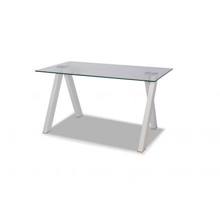 mesa comedor blanco tapa de cristal muebles baratos