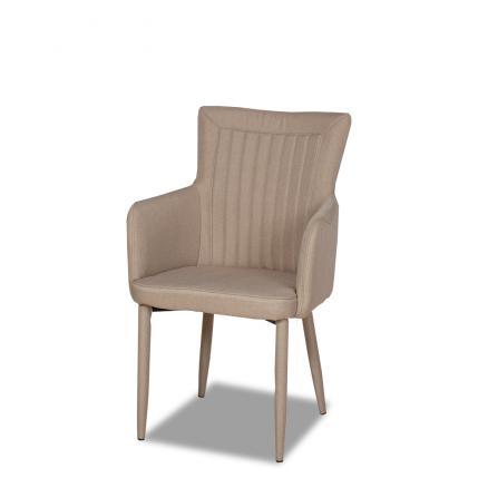 sillas muebles salon en color beige muebles baratos ecopiel