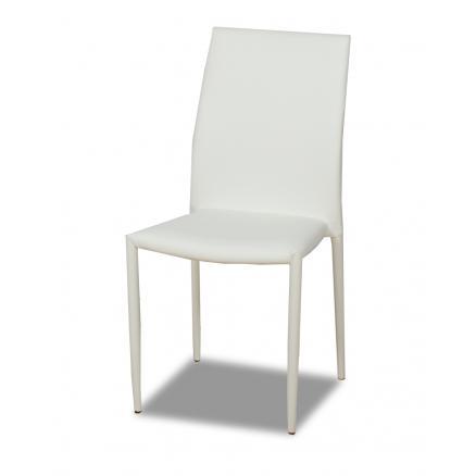 sillas pvc tapizada en blanco muebles baratos