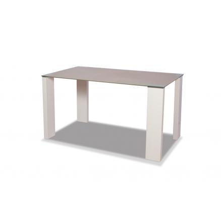 mesa comedor en capuchino y blanco muebles baratos