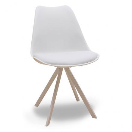 silla estilo nórdica en blanco moderna barata