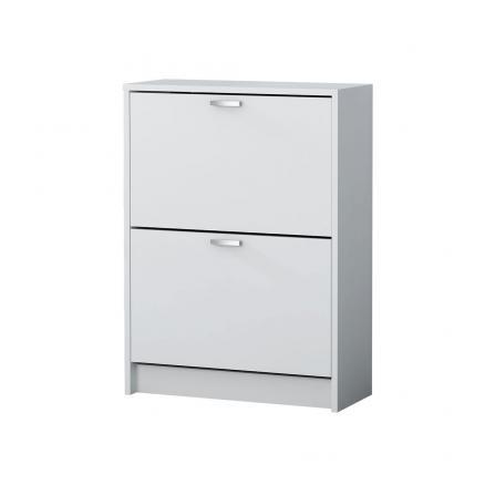 zapatero habitacones juveniles muebles auxiliar blanco 2 puertas
