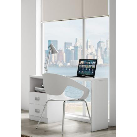 mesas de estudio cajones color blanca habitaciones juveniles