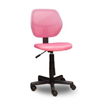 Silla juvenil en color rosa giratoria rapimueble for Silla giratoria juvenil