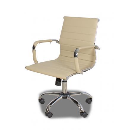 sillas mesa escritorio en color beige ruedas brazos