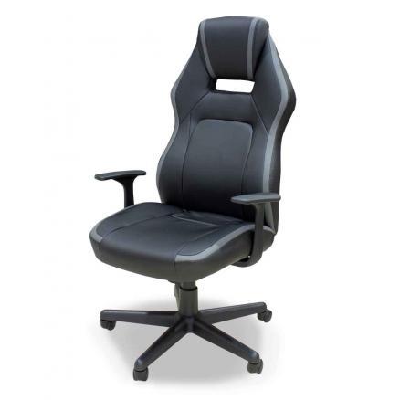 sillón oficina tapizado en negro modelo cómodo