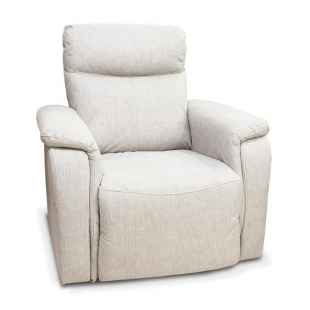 sillón relax electrico blanco beige crema cómodo