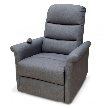 sillón relax electrico con incorporador en gris