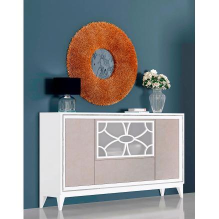 aparador muebles baratos blanco poro y gris muebles salon