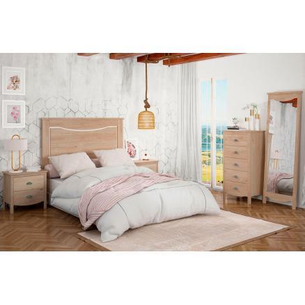 dormitorio roble blanco con patas moderno muebles baratos