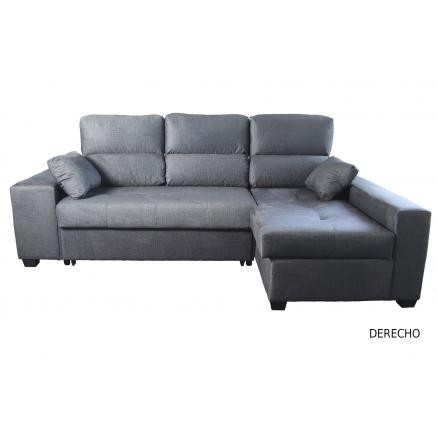 chaiselongue derecho cama en color grafito sofa