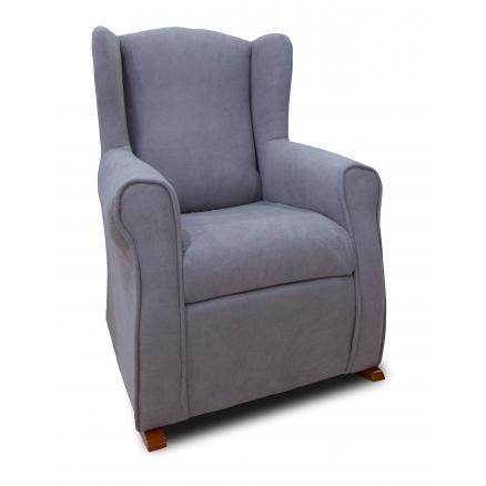 butaca en gris azulado orejera sofás baratos