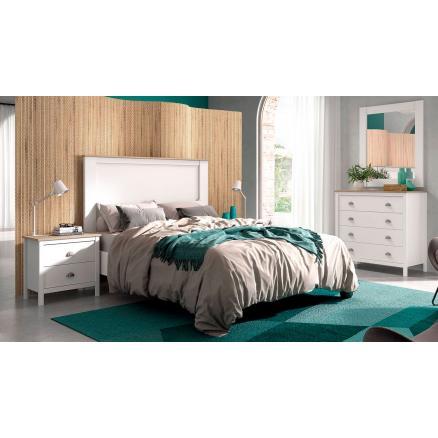 dormitorio blanco roble moderno estilo minimalista matrimonio